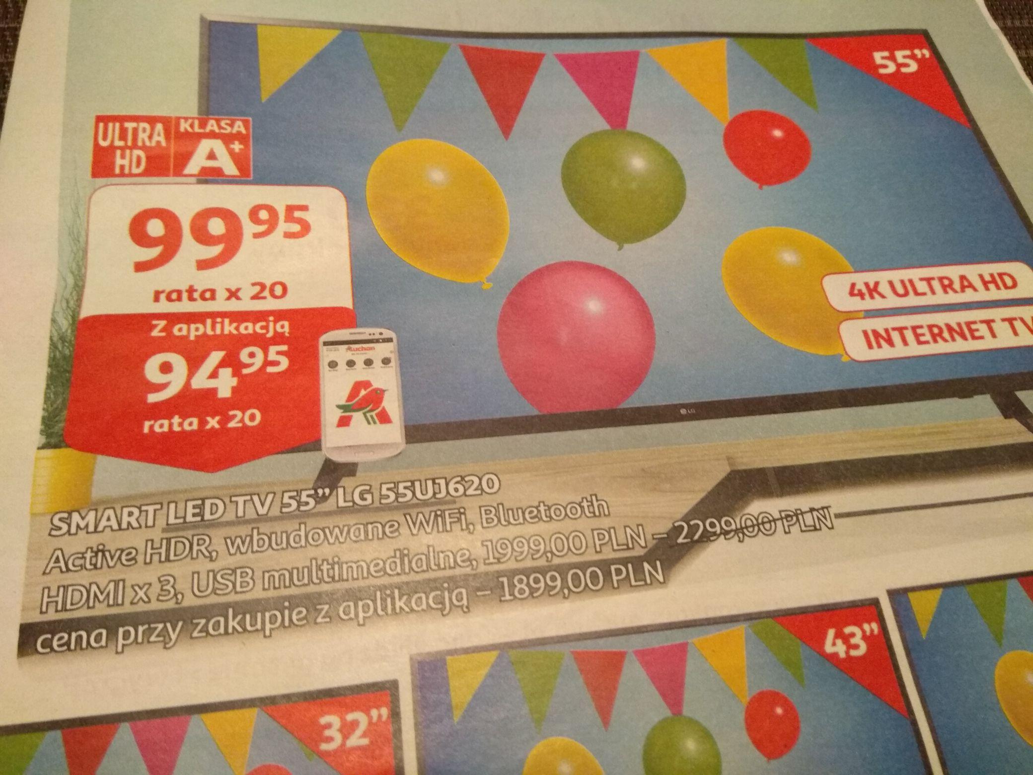 Smart TV 55' LG 4K UHD od 15.05 w Auchan