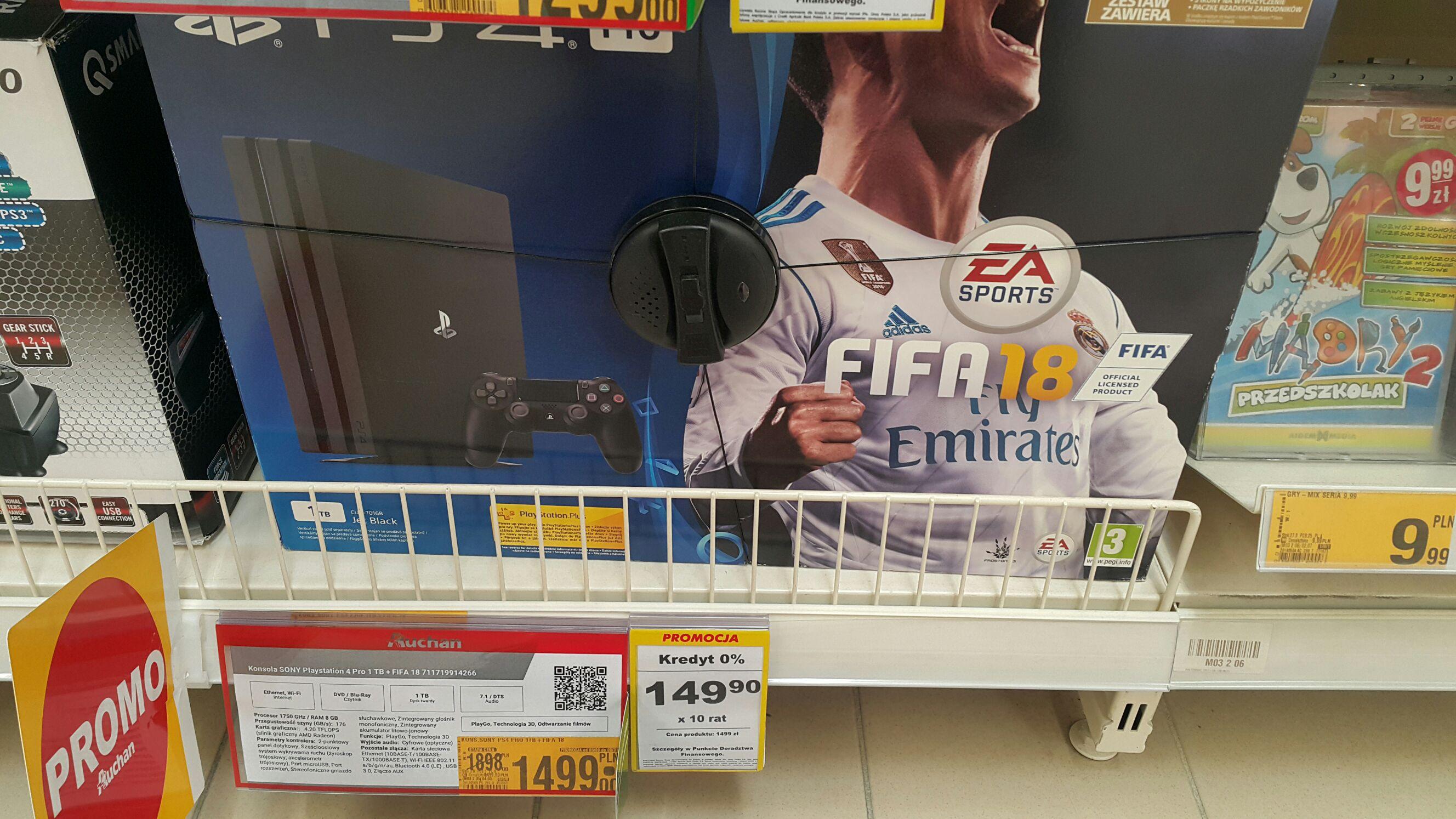 Playstation 4 pro + fifa 18 / Auchan
