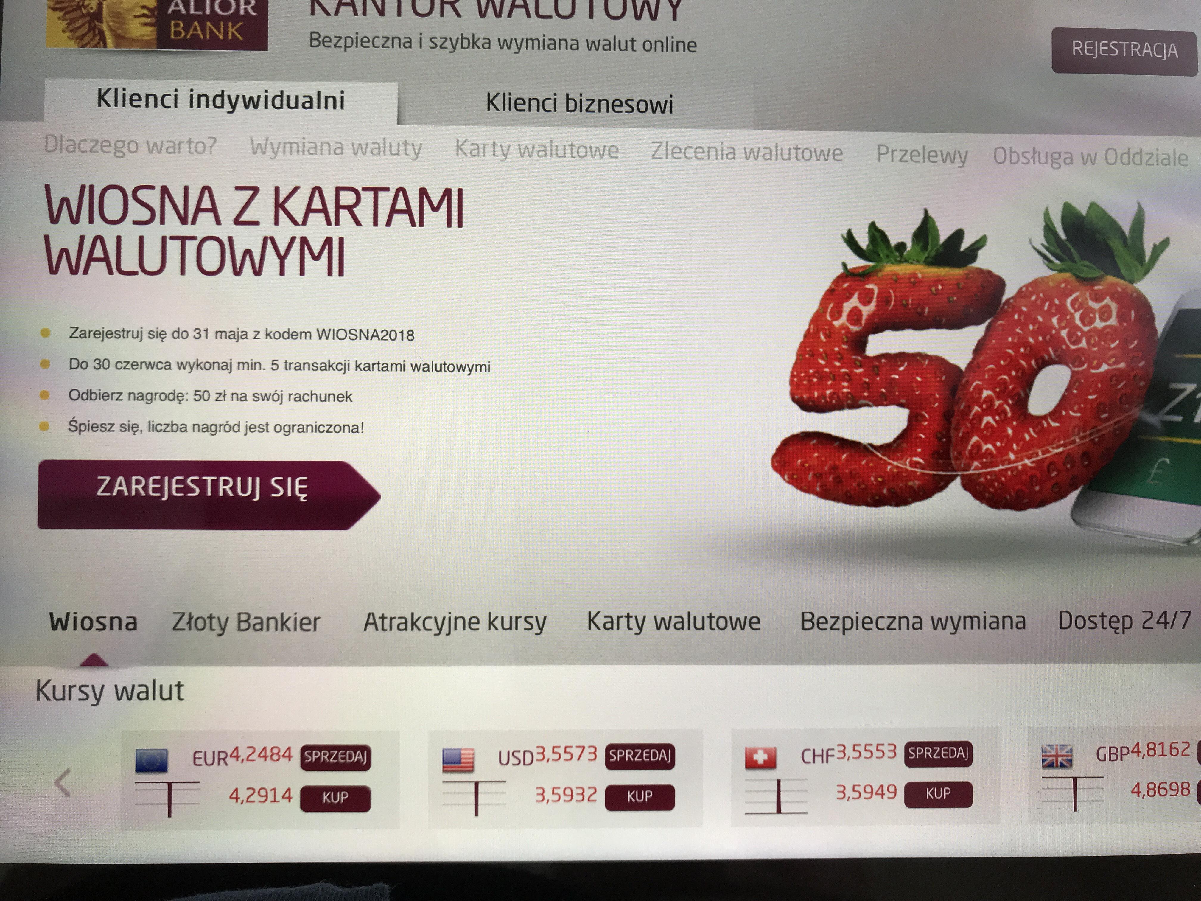 Kantor walutowy extra 50 zł