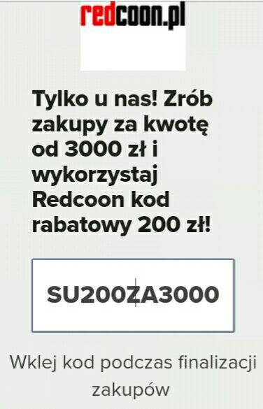 -200 zł przy MWZ 3000 @ Redcoon