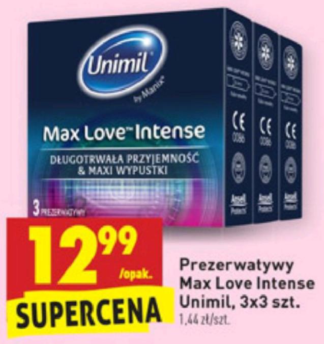 Prezerwatywy Unimil 9szt. Program 0+, tylko 1,44zł za sztukę BIEDRONKA