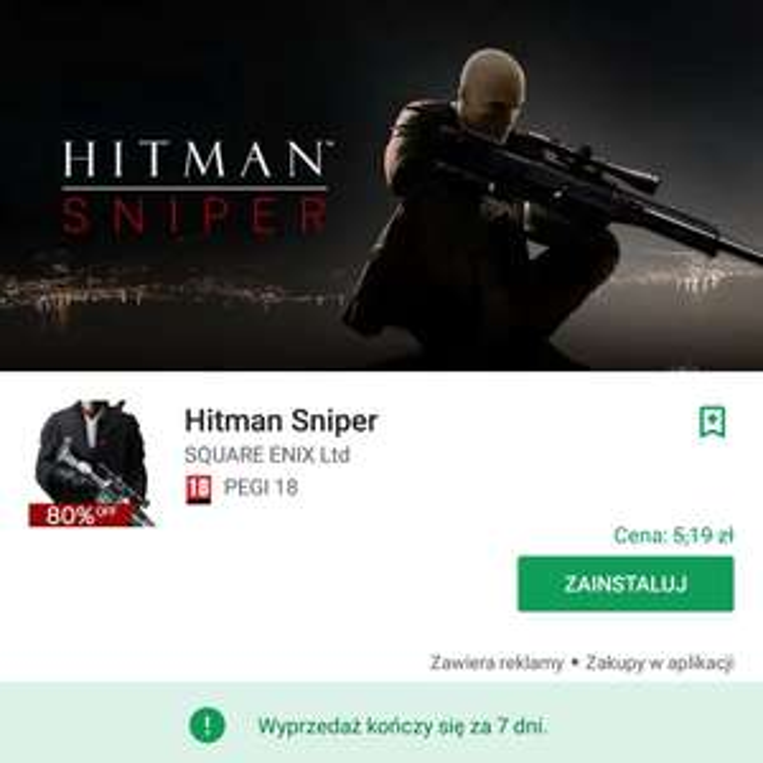 Hitman Sniper (Android) ponownie za darmo