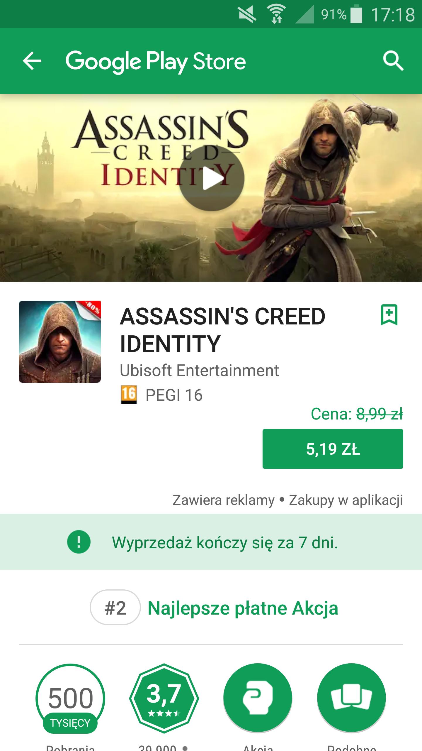 Assassin's creed identity . Google play