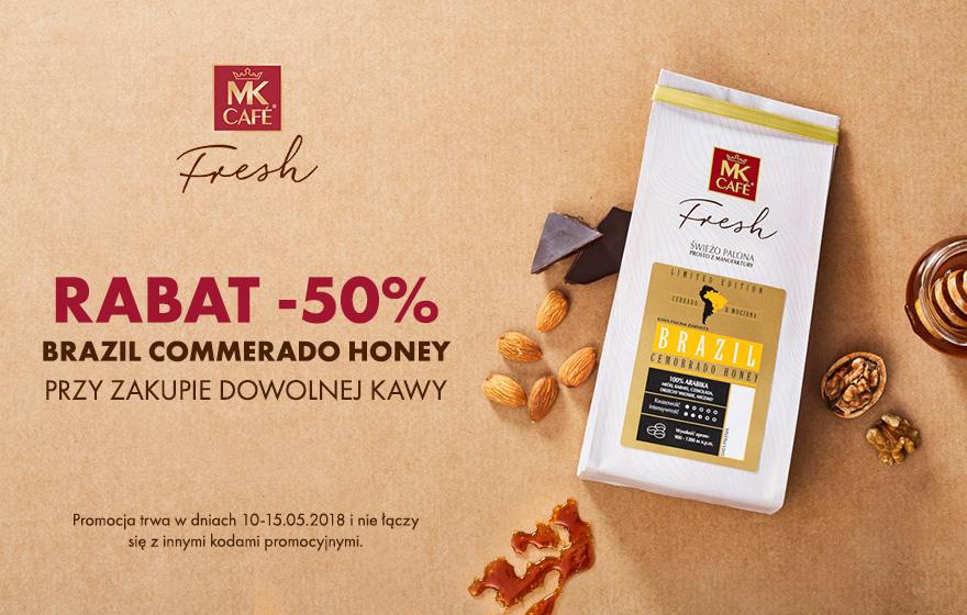 Rabat - 50% na kawę Brazil Commerado Honey przy zakupie dowolnej kawy - MK Cafe Fresh