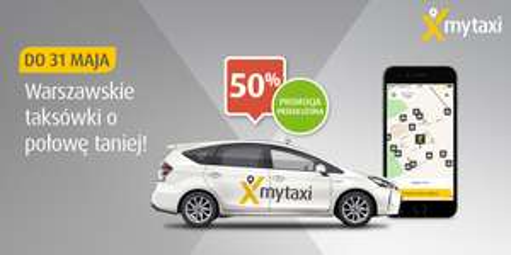 Taksówki za 50% @ MyTaxi