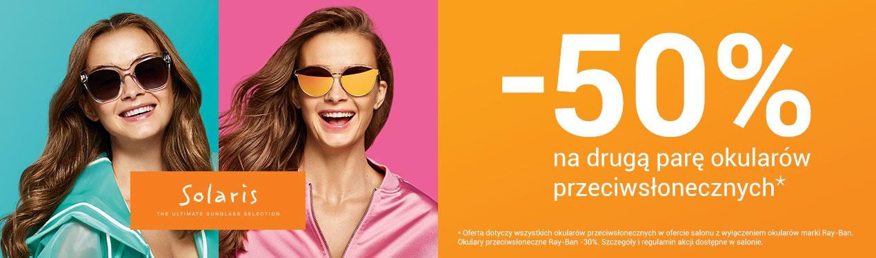 -50% na drugą parę okularów przeciwsłonecznych @ Vision Express