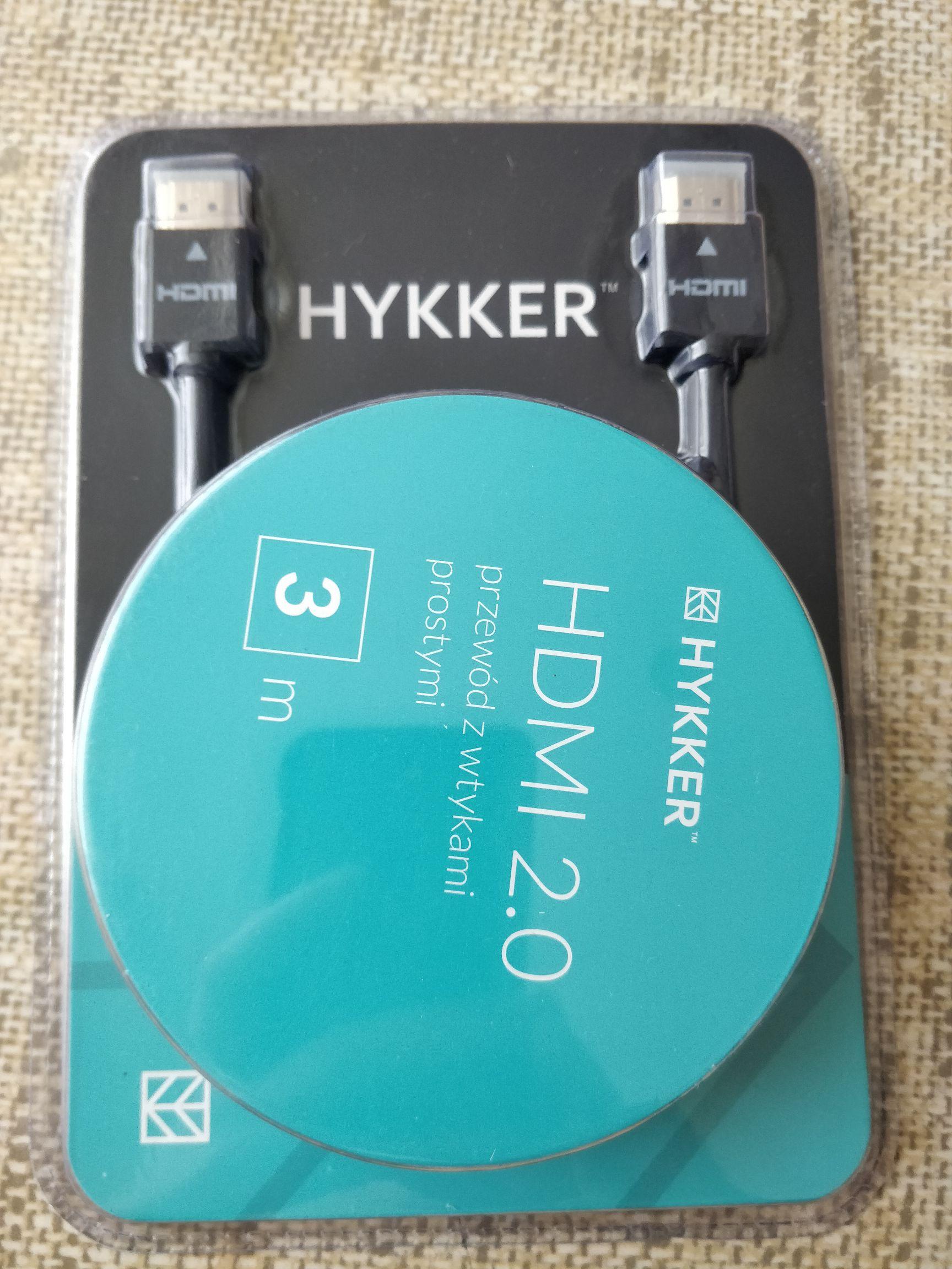 Kabel HDMI HYKKER 2.0 3M Biedronka