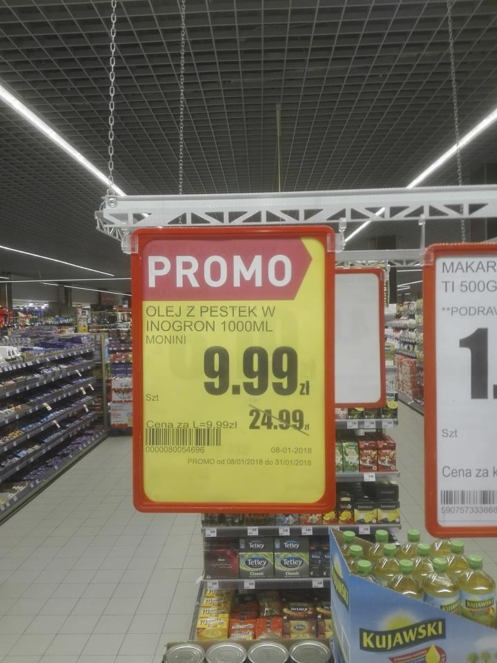 Monini 1L - Olej z pestek winogron @ Intermarche (Swarzędz)