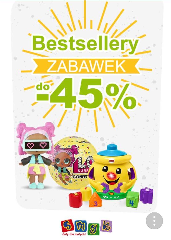Bestsellery zabawek w SMYK do -40%