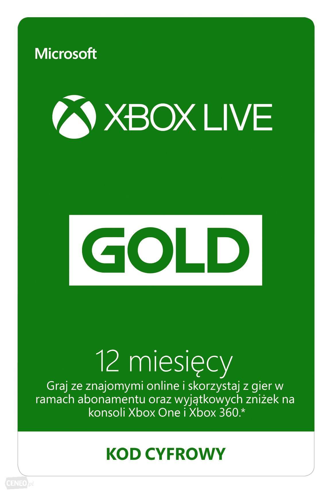 Xbox Live Gold 12 miesięcy ze słonecznej Brazylii za $30.97