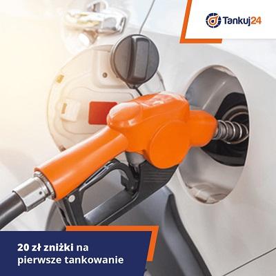 20 zł na pierwsze tankowanie w aplikacji tankuj24.pl