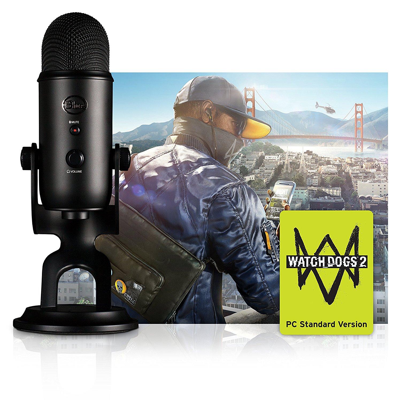 Mikrofon Blue Yeti + Watch Dogs 2