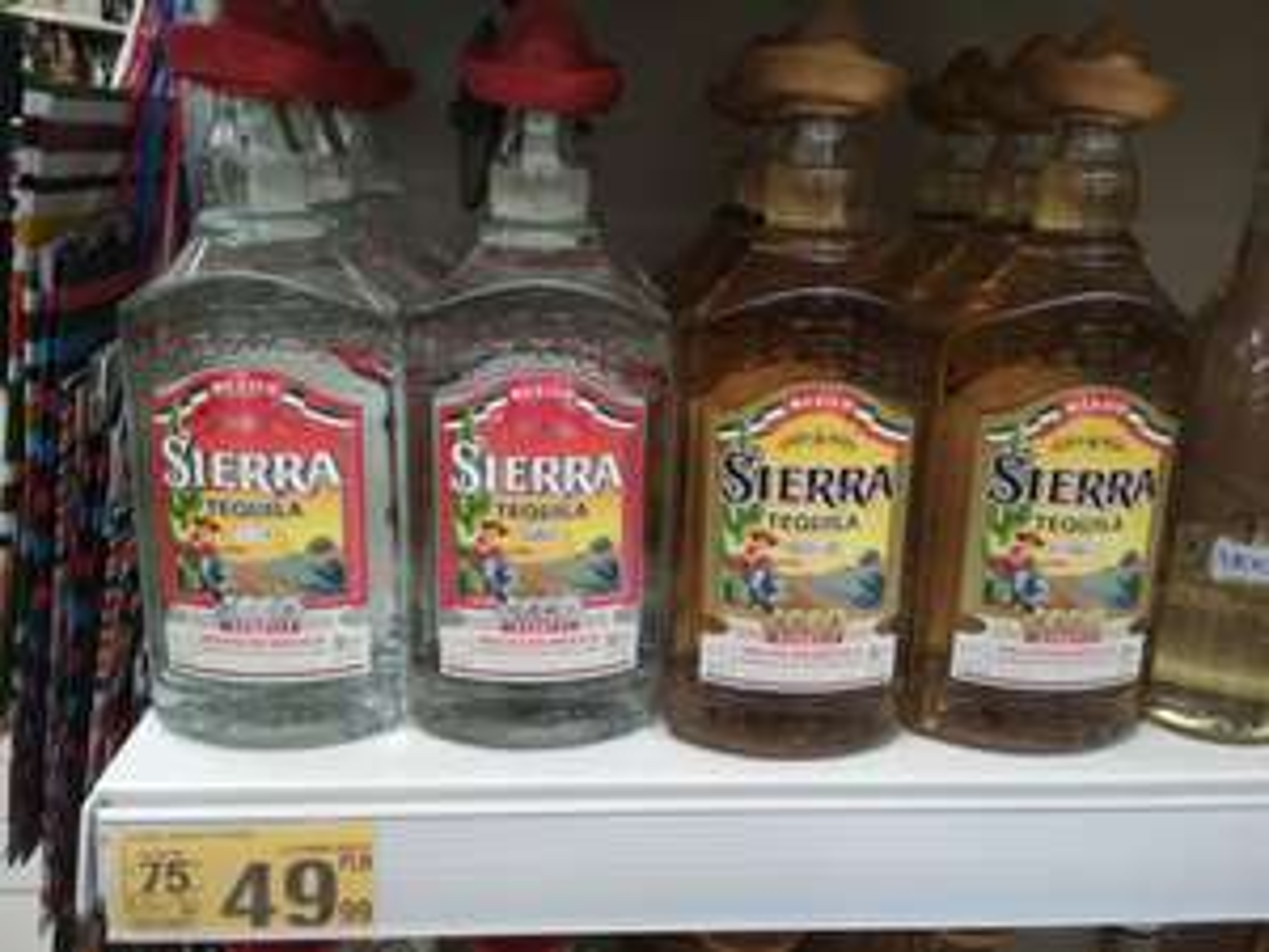 Sierra Tequila silver gold 0.7 Auchan