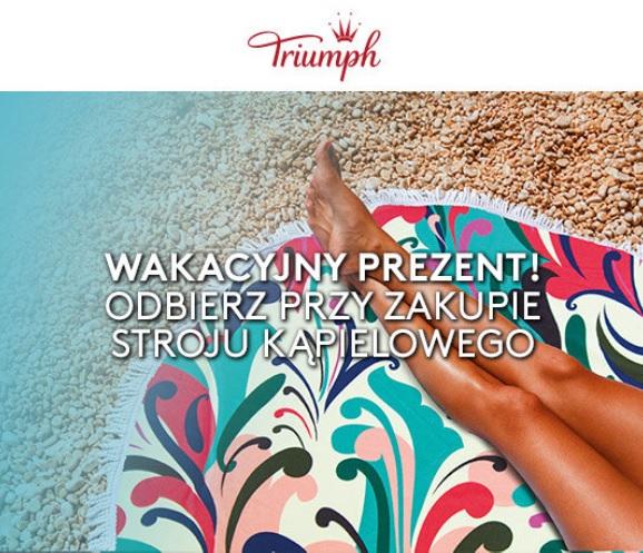 Ręcznik plażowy gratis przy zakupie kostiumu kąpielowego @ Triumph
