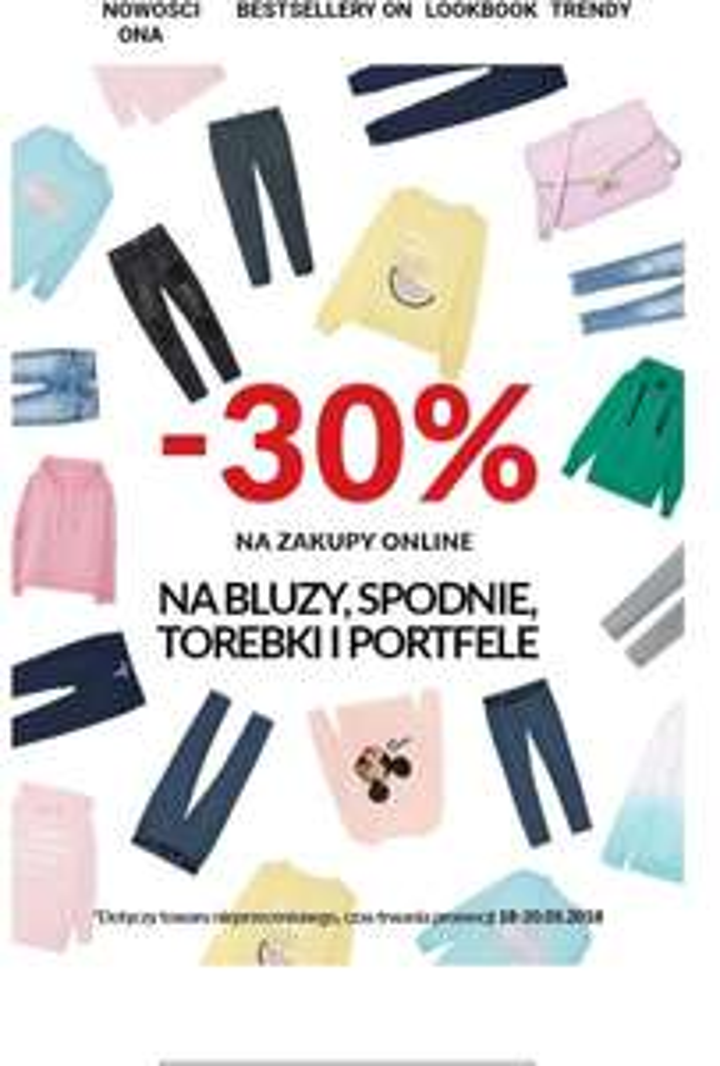 -30% na bluzy,spodnie, torebki i portfele @House