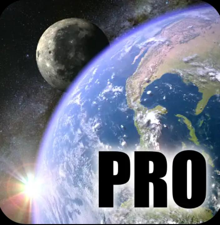 Earth & Moon in HD Gyro 3D PRO - tapeta 3D