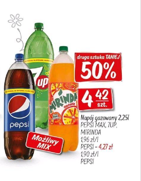 Pepsi Mirinda 7up taniej