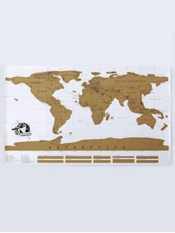 Mapa świata - zdrapka 88x52cm