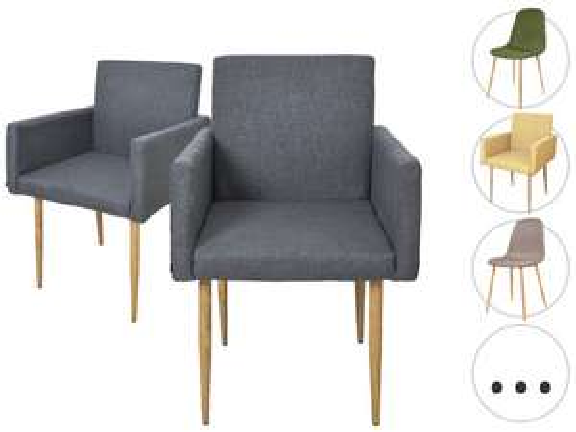 iBOOD - 2x krzesło do jadalni PAV lub Stockholm