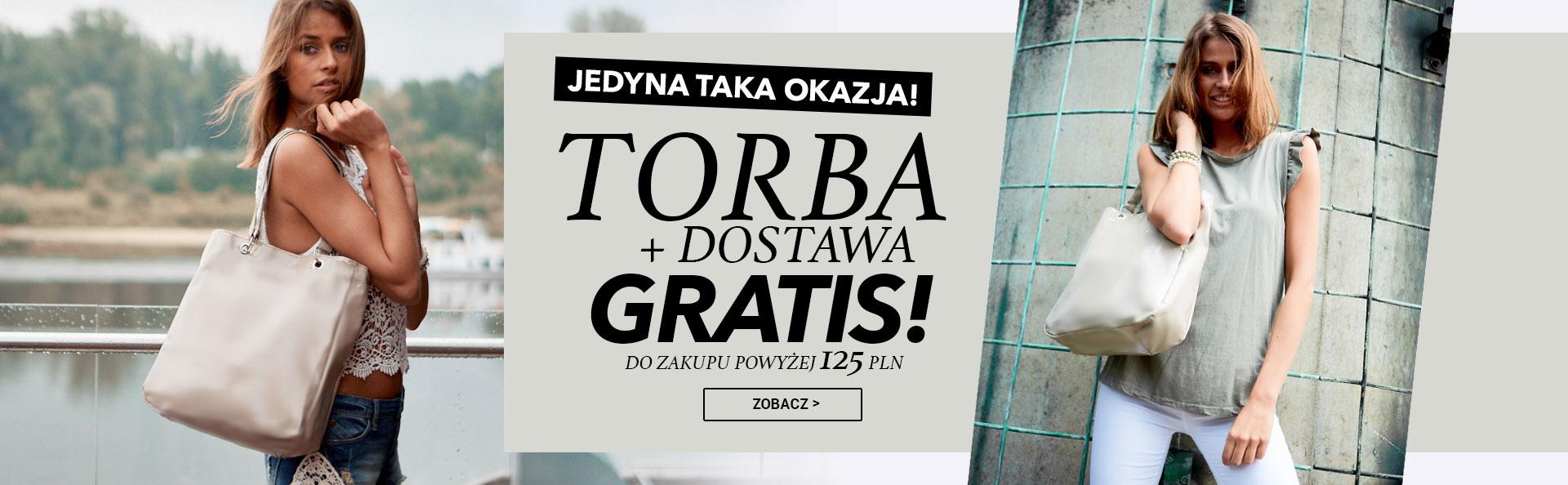 Torba i dostawa gratis przy zakupach pow. 125 zł -eButik!
