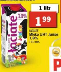 Mleko łaciate Junior 1L LIDL