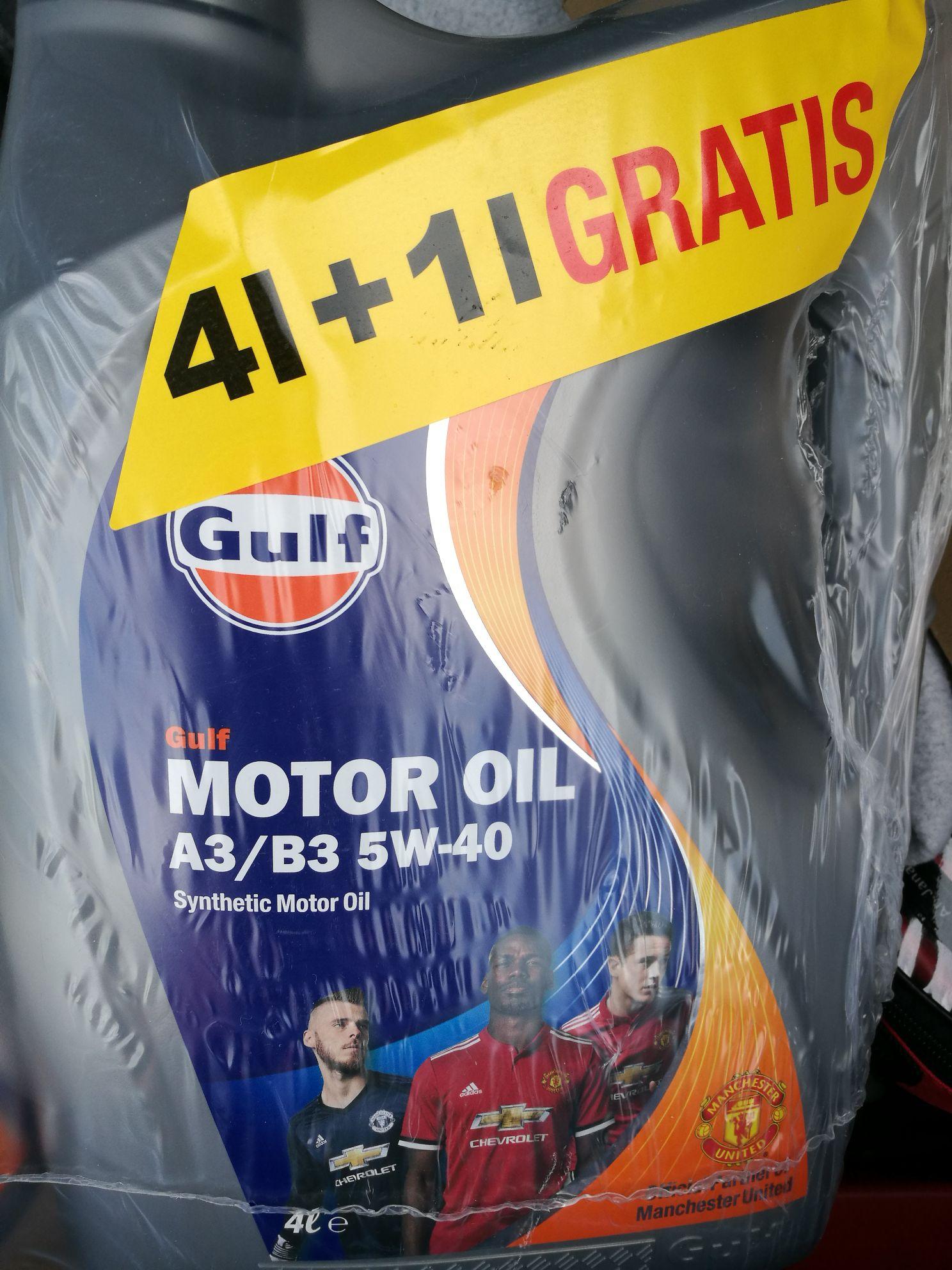 Olej Gulf rozne 5w40 5w30 4+1L Kaufland Częstochowa