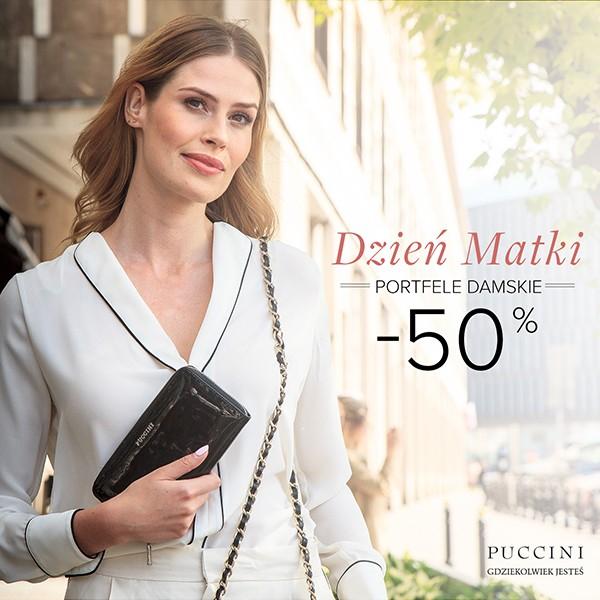 50% rabatu na damskie portfele (ceny od 58zł) @ Puccini