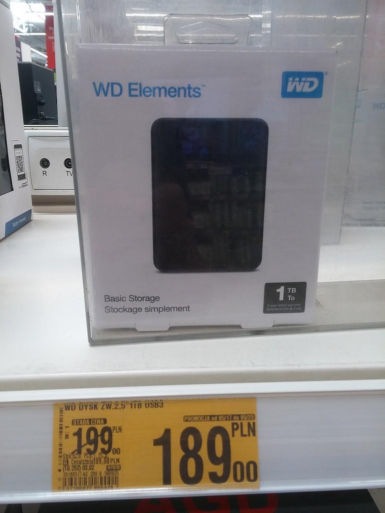 """Dysk WD Elements 2.5"""" 1TB USB 3.0 za 189zł"""