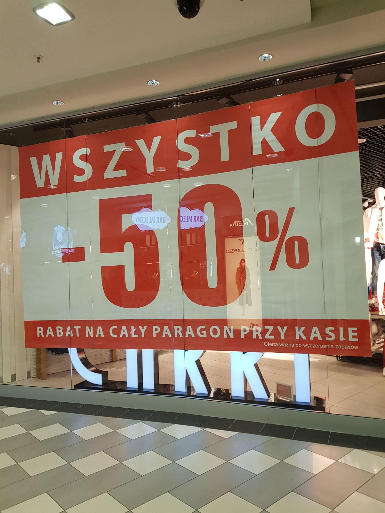 -50% na wszystko w sklepie carry warszawa reduta
