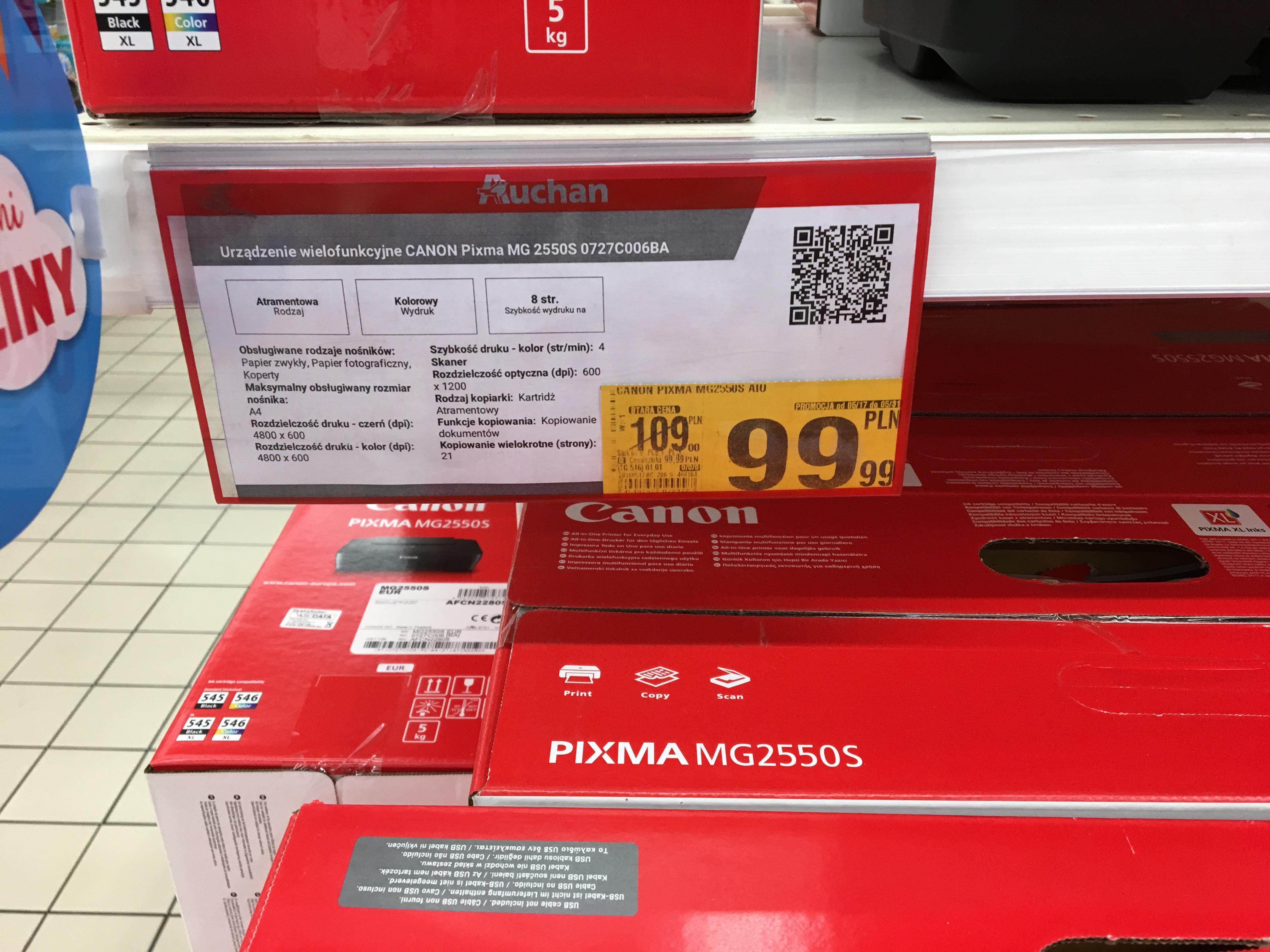 Urządzenie wielofunkcyjne Canon Pixma MG 2550S (0727C006BA) Auchan Galeria Bronowice