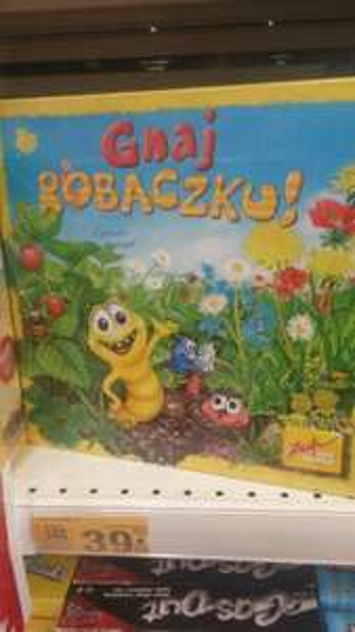 """gra planszowa 4+ """"Gnaj Robaczku"""" Auchan Kraków - Bronowice"""