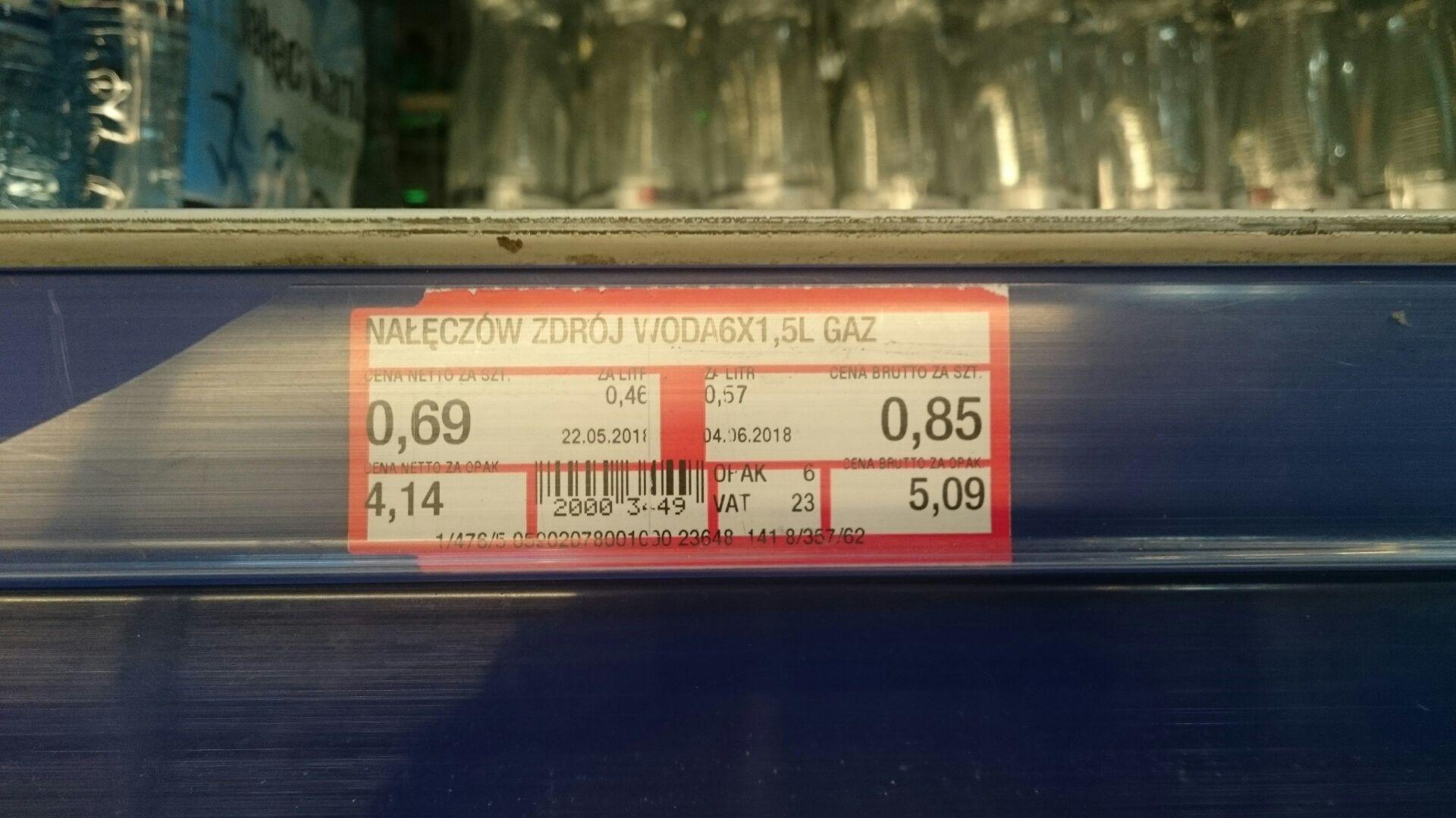 Woda mineralna Nałęczów Zdrój 1,5l Makro
