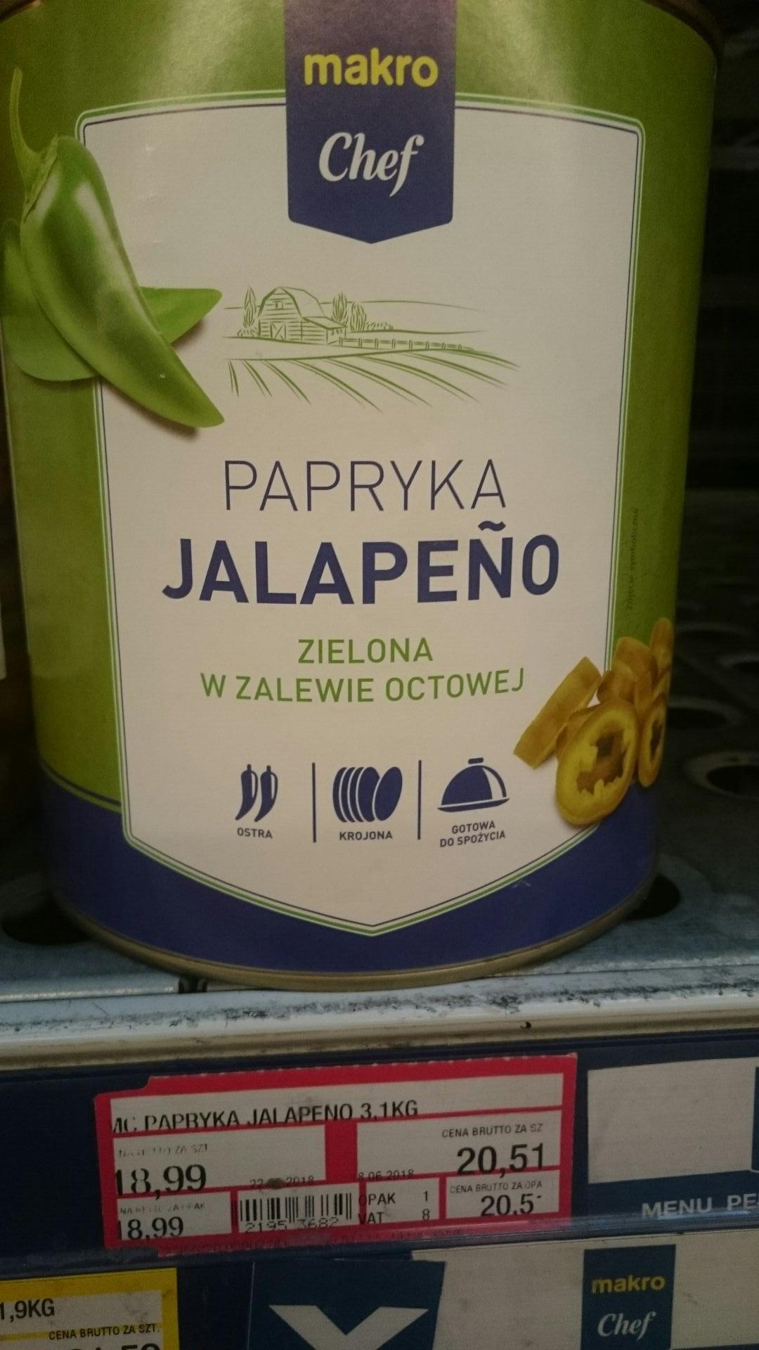 Dla tych co lubią jak piecze 2 razy Jalapeno 3,1kg