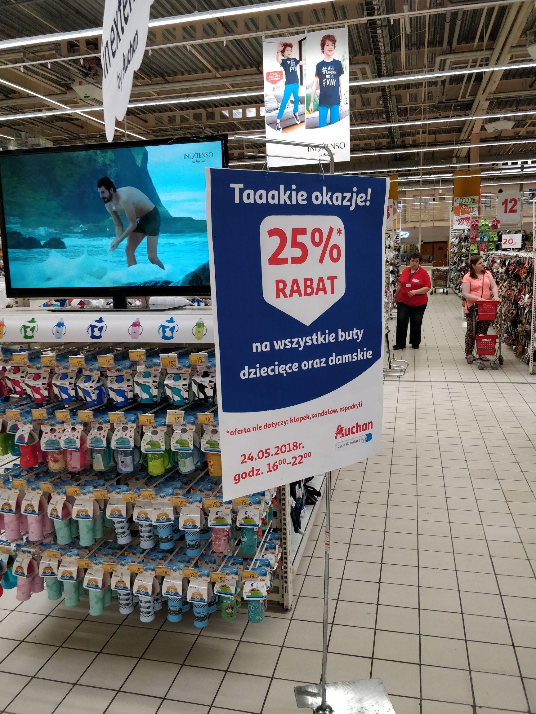 Zniżka 25% na buty Auchan Modlinska