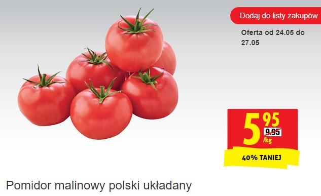 Pomidor malinowy polski układany 1 kg @Biedronka