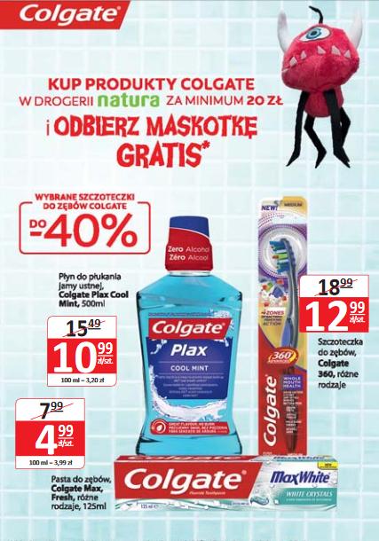 Maskotka gratis przy zakupie produktów Colgate za min.20zł @ Natura