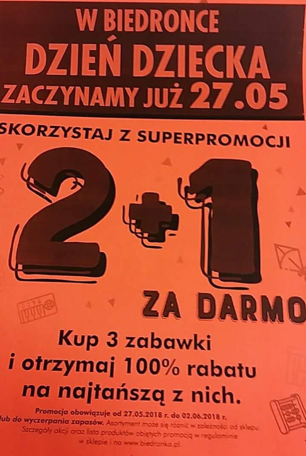 Super oferta 2+1. Kup 3 zabawki i otrzymaj 100% rabatu ma najtańszą @Biedronka
