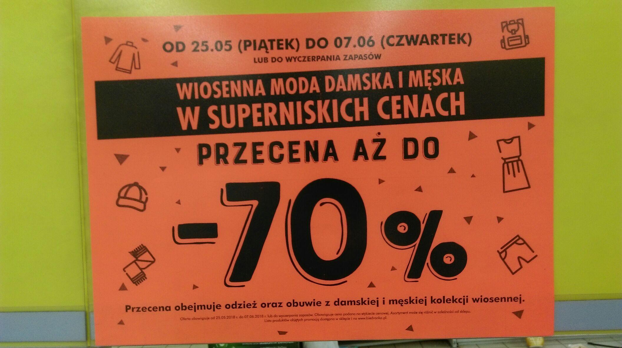 @Biedronka Wiosenna moda damska i męska do 70% taniej