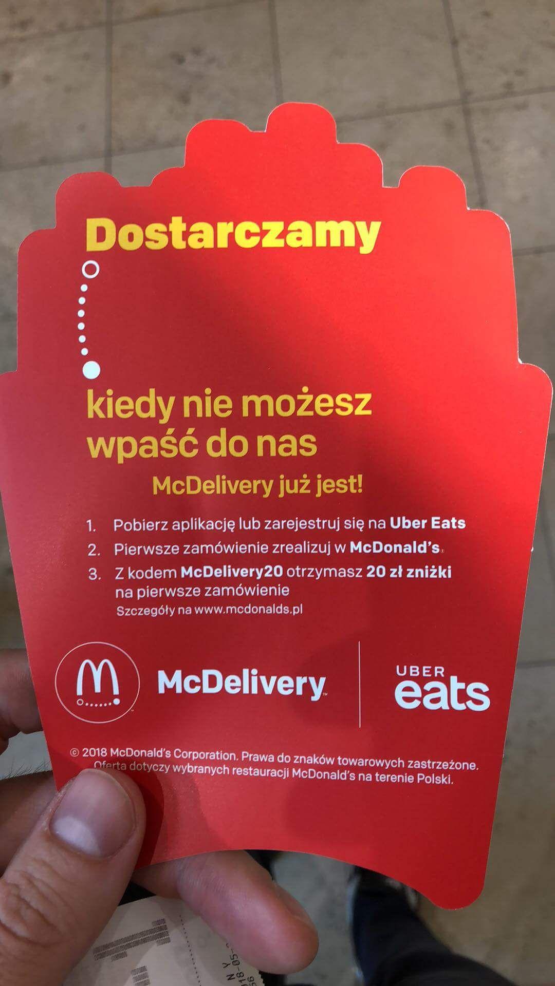 McDonald 20zł kupon