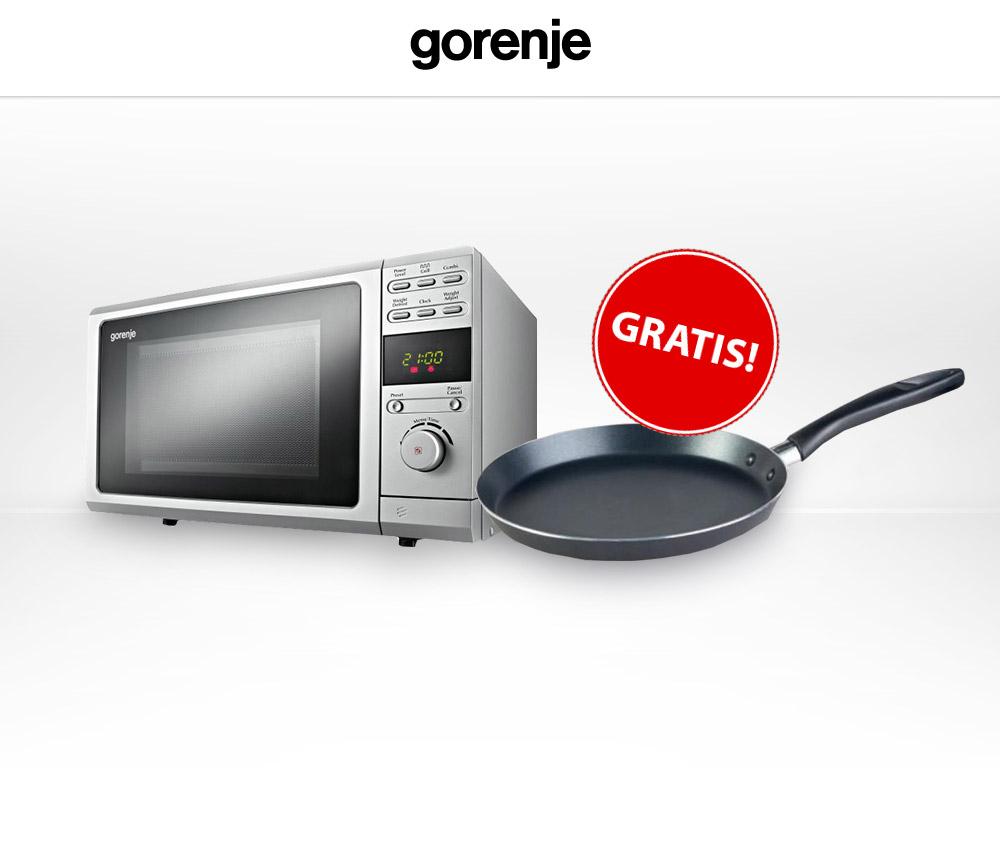 Przy zakupie kuchenki mikrofalowej GORENJE - patelnia tej firmy gratis @ Electro