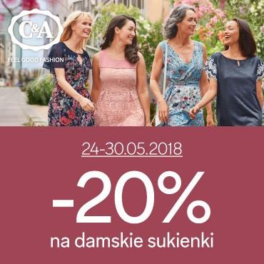 20% rabatu na sukienki @ C&A