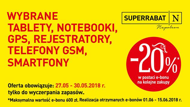 -20% na wybrany sprzęt elektroniczny (e-bon) @ Carrefour