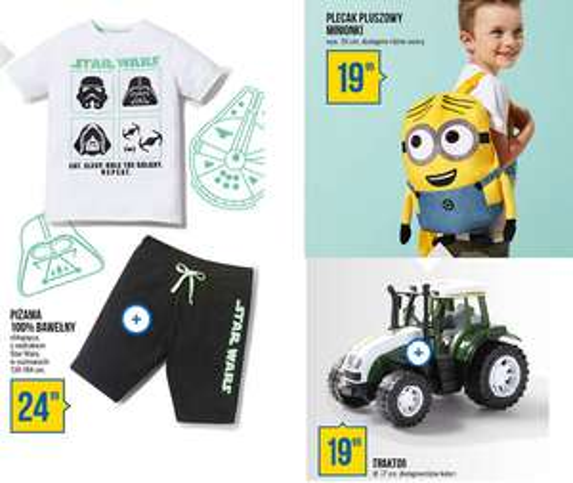Plecak Minionki za 19,99zł, traktor 27cm za 19,99zł, piżama Star Wars za 24,99zł @ Pepco
