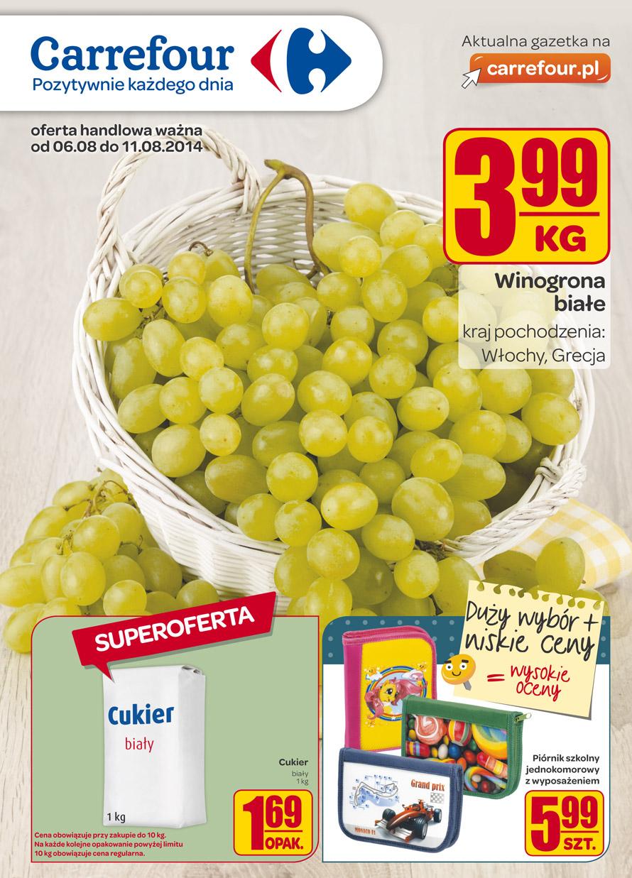 Cukier biały za 1,69 zł za kilogram @ Carrefour