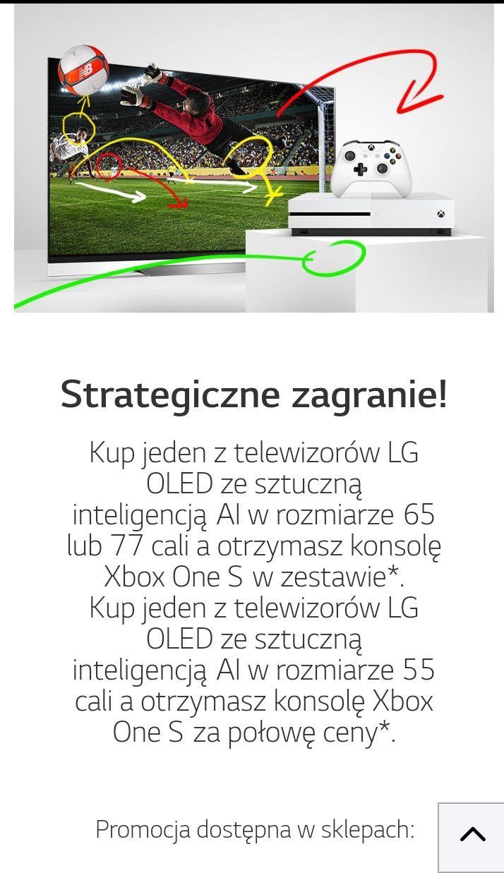 Konsola Xbox One S GRATIS lub za PÓŁ CENY przy zakupie Telewizorów LG