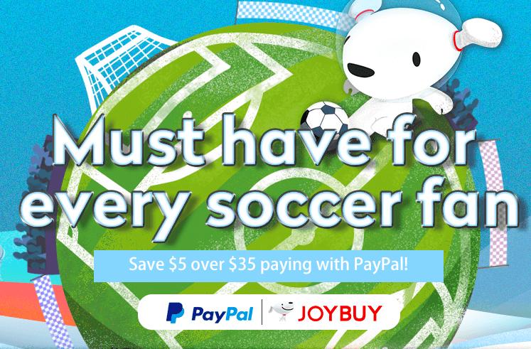 Kupon $5/35 przy płatności PayPal @JoyBuy