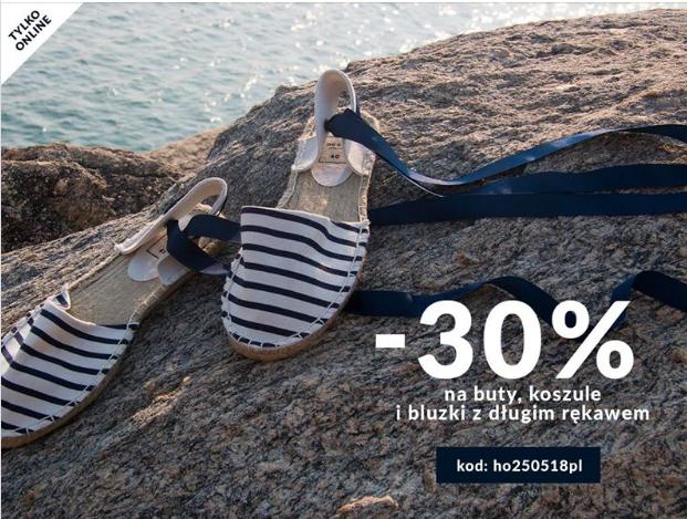 HOUSE -30% na buty, koszule i bluzki z długim rękawem
