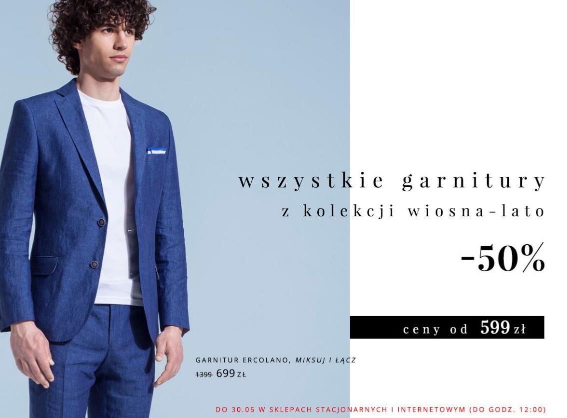 BYTOM -50% na wszystkie garnitury z kolekcji wiosna-lato