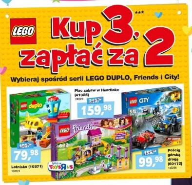 Promocja na Lego w toy'R'us 3 szt w cenie 2