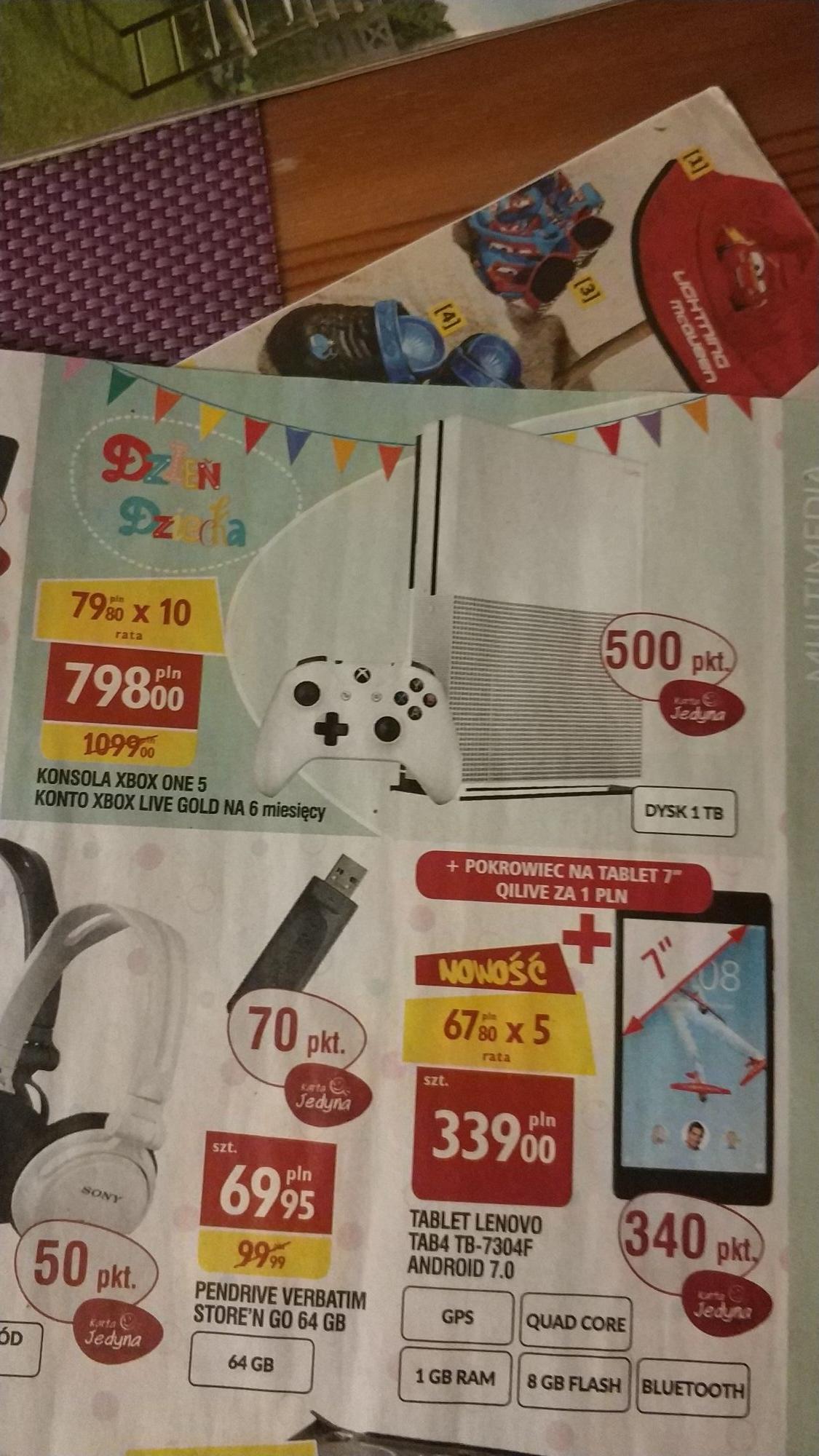 Xbox One S 1TB + 6 miesięcy Xbox Live